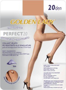 COLLANT PERFECT VELATO-RESISTENTE SMAGLIATURE CALZE GOLDEN LADY 20 DEN-DAINO